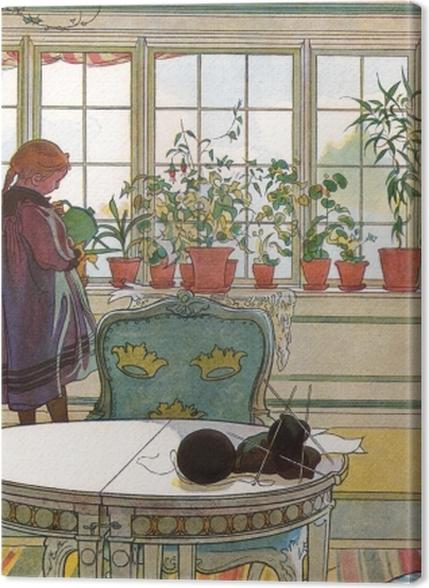 Tableaux premium Carl Larsson - Fleurs sur le Windowsill - Reproductions