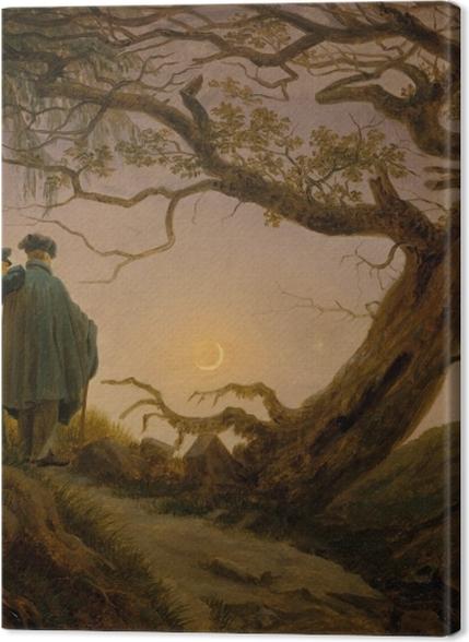 Tableaux premium Caspar David Friedrich - Deux hommes contemplant la lune - Reproductions