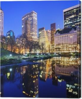 Tableaux premium Central Park la nuit à New York