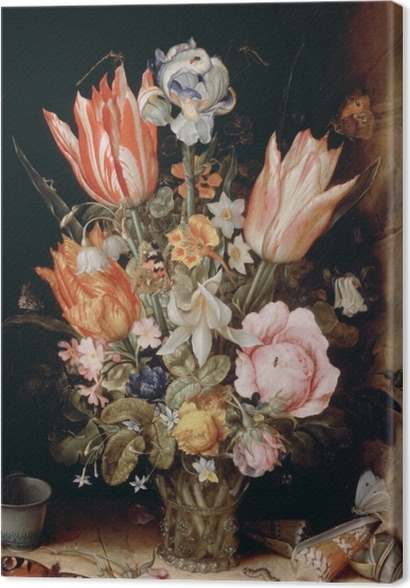 Tableaux premium Christoffel van den Berghe - Still Life with Flowers in a Vase - Reproductions
