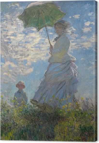 Tableaux premium Claude Monet - Femme à l'ombrelle tournée vers la droite - Reproductions