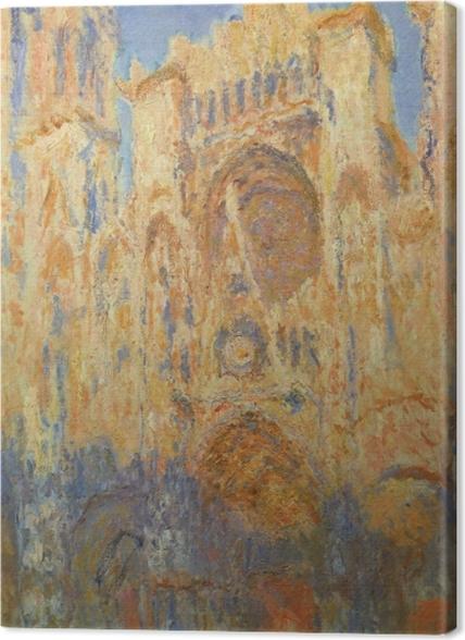 Tableaux premium Claude Monet - La Cathédrale de Rouen, façade, soleil couchant - Reproductions