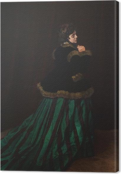 Tableaux premium Claude Monet - La Femme en robe verte - Reproductions