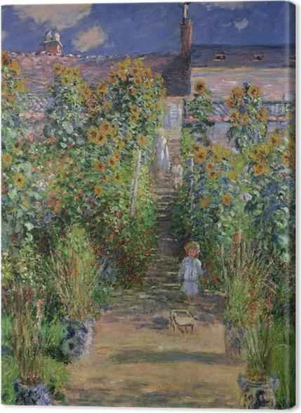 Tableaux premium Claude Monet - Le Jardin de Monet à Vétheuil - Reproductions