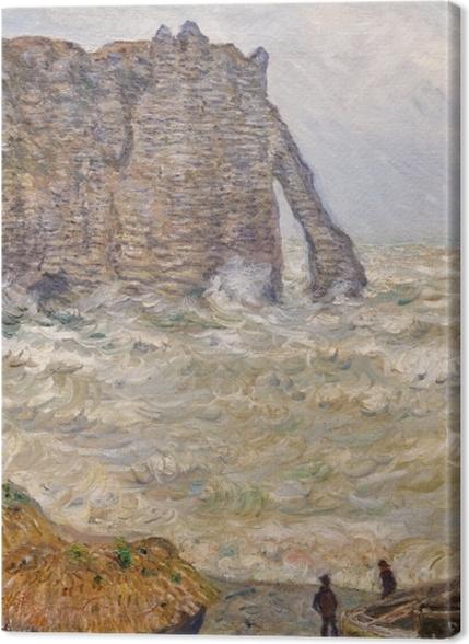 Tableaux premium Claude Monet - Mer agitée à Étretat - Reproductions