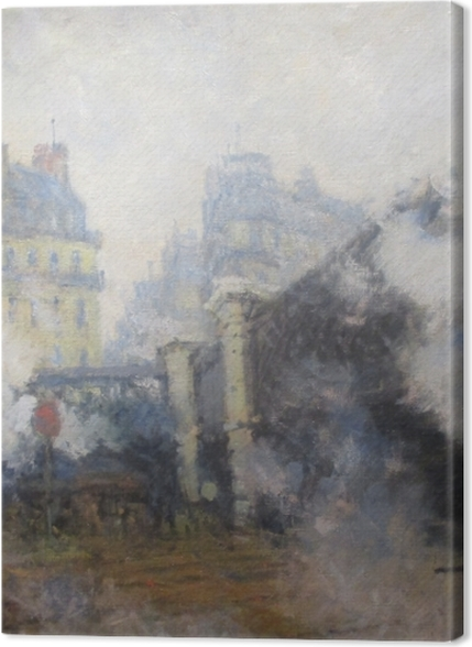 Tableaux premium Claude Monet - Pont de l'Europe, gare Saint-Lazare - Reproductions