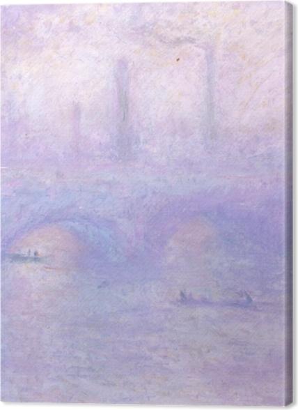 Tableaux premium Claude Monet - Pont de Waterloo, au crépuscule - Reproductions