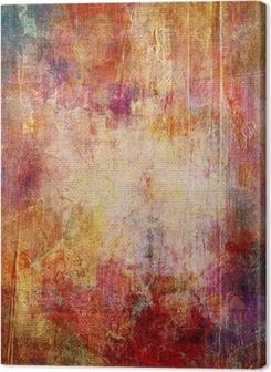 Tableaux premium Couches de couleur sur la structure exfoliée toile