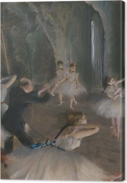 Tableaux premium Edgar Degas - Répétition d'un ballet sur la scène - Reproductions