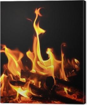 Tableaux premium Feu de camp, feu de cheminée, les flammes, les braises