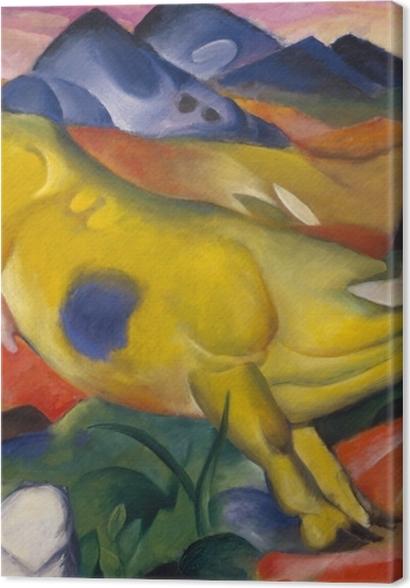Tableaux premium Franz Marc - Vache jaune - Reproductions