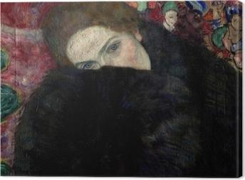 Tableaux premium Gustav Klimt - Dame avec un chapeau et un manteau