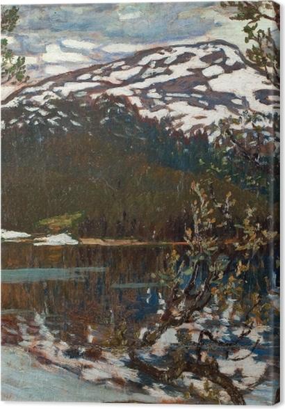 Tableaux premium Helmer Osslund - Printemps au lac de Rensjön près d'Åre - Reproductions