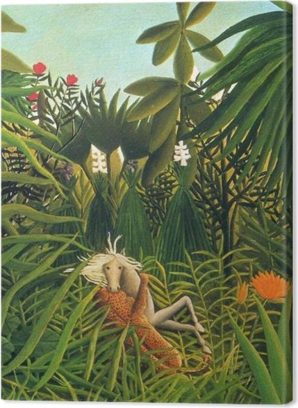 Tableaux premium Henri Rousseau - Cheval attaqué par un jaguar - Reproductions