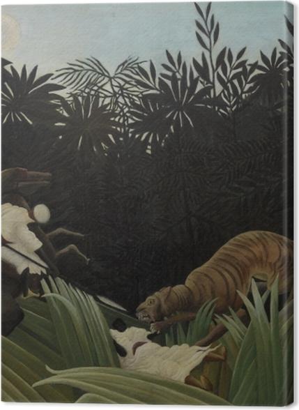 Tableaux premium Henri Rousseau - Éclaireurs attaqués par un tigre - Reproductions