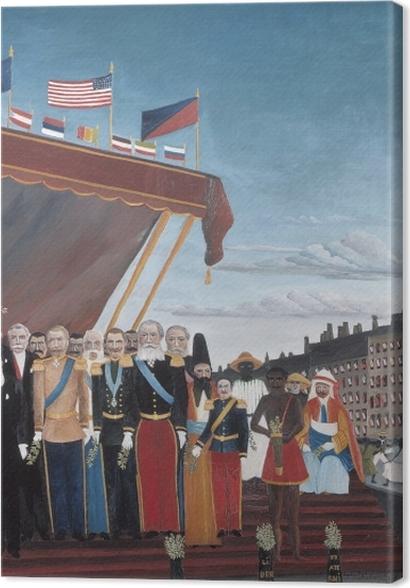 Tableaux premium Henri Rousseau - Les représentants des puissances étrangères venant saluer la République en signe de paix - Reproductions