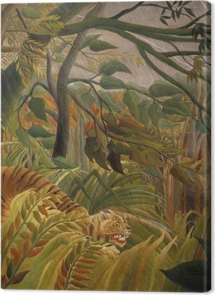 Tableaux premium Henri Rousseau - Tigre dans une tempête tropicale (Surpris!) - Reproductions