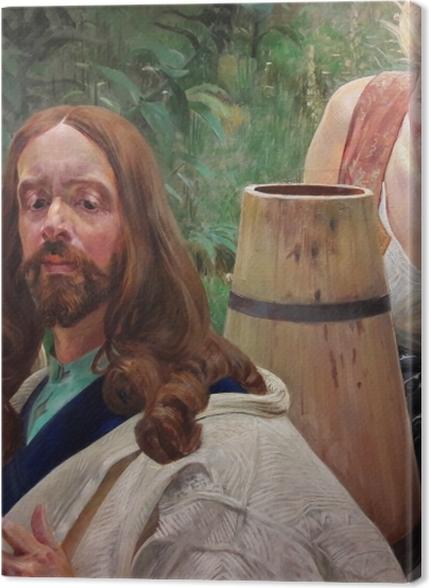 Tableaux premium Jacek Malczewski - Le Christ et la samaritaine - Reproductions