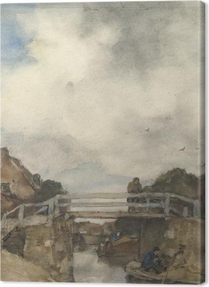 Tableaux premium Jacob Maris - Canal hollandais, Rijswijk - Reproductions