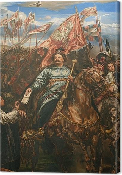 Tableaux premium Jan Matejko - Jean III Sobieski envoie un message de victoire au pape après la bataille de Vienne (détail) -