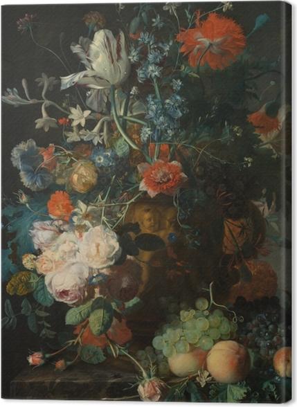 Tableaux premium Jan van Huysum - Still life with flowers - Reproductions