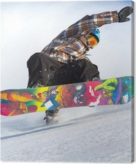 Tableaux premium L'évolution de snowboard