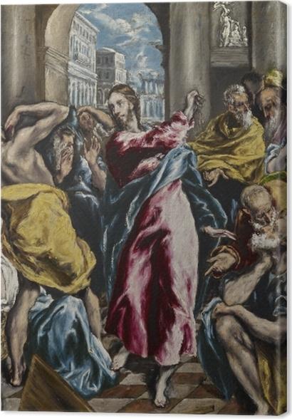 Tableaux premium Le Greco - L'Expulsion des marchands du temple - Reproductions