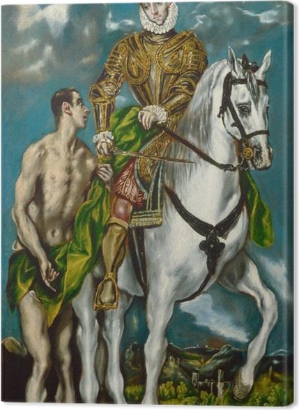 Tableaux premium Le Greco - Saint Martin et le Mendiant - Reproductions