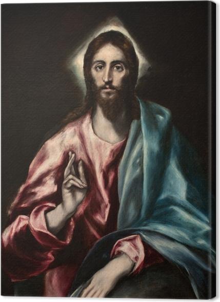Tableaux premium Le Greco - Salvator Mundi (Le Sauveur) - Reproductions