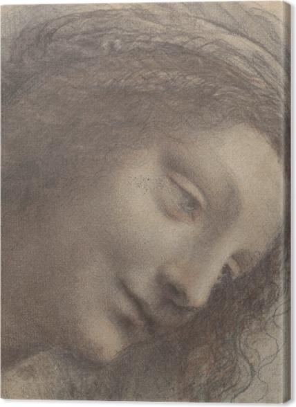 Tableaux premium Léonard de Vinci - Chef d'une femme - Reproductions