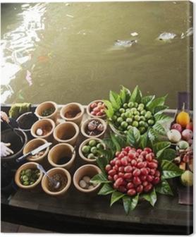 Tableaux premium Marché flottant, Thaïlande