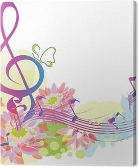 Tableaux premium Musique d'été avec clé de sol décoratif