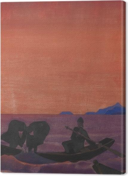 Tableaux premium Nicolas Roerich - Et nous continuons à pêcher - Nicholas Roerich