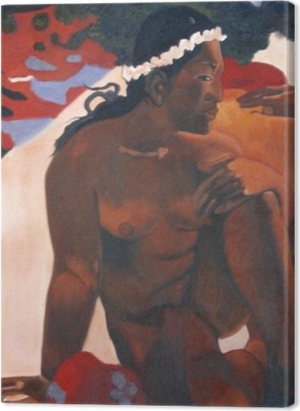 Tableaux premium Paul Gauguin - Aha oe feii? (Eh quoi ! tu es jalouse ?) - Reproductions