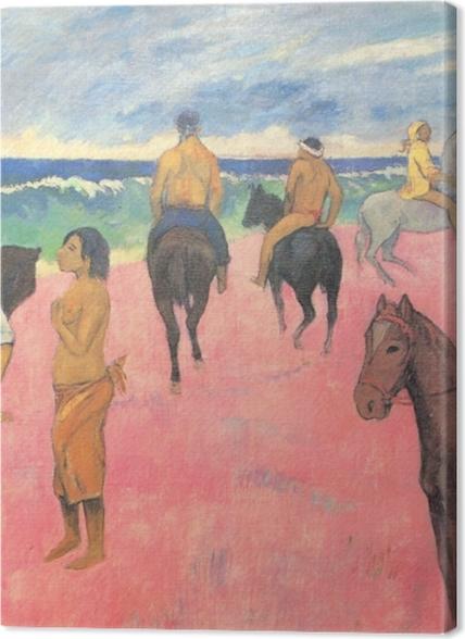 Tableaux premium Paul Gauguin - Cavaliers sur la plage - Reproductions