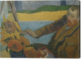 Tableaux premium Paul Gauguin - Van Gogh peignant « Tournesols »