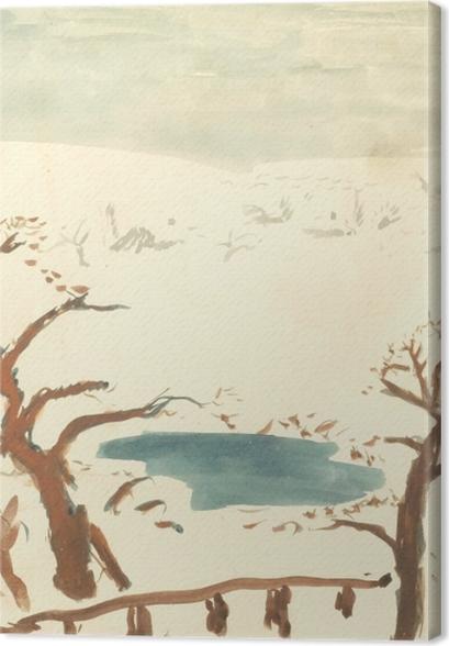 Tableaux premium Pierre Bonnard - Paysage d'hiver - Reproductions