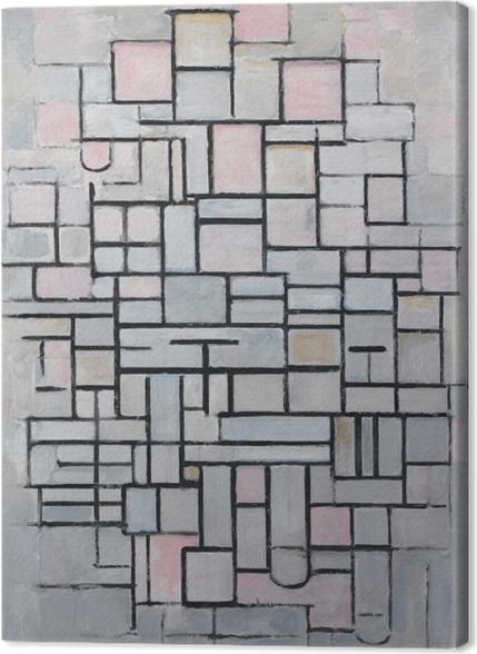 Tableaux premium Piet Mondrian - Composition n ° 4 - Reproductions