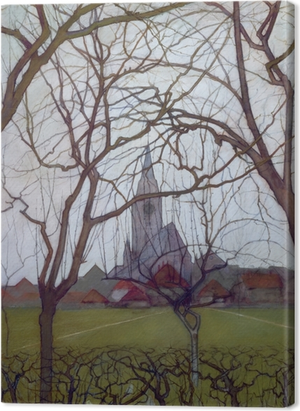 Tableaux premium Piet Mondrian - Église de village - Reproductions