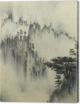 Tableaux premium Pin ponderosa et le brouillard