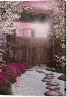 Tableaux premium Porte du jardin oriental