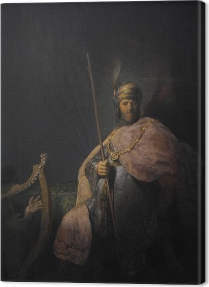 Tableaux premium Rembrandt - David jouant de la harpe devant Saül - Reproductions