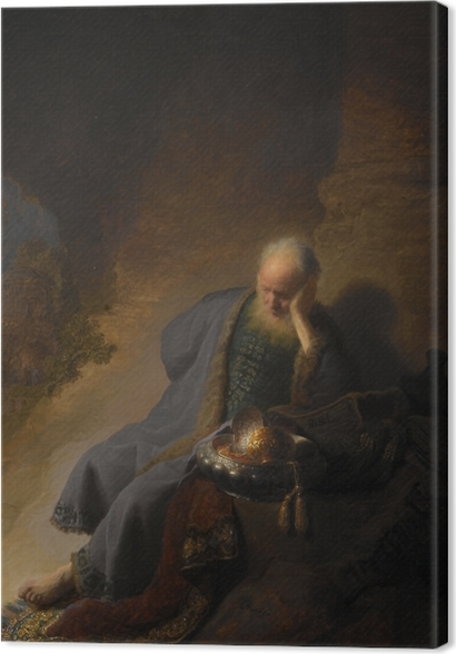 Tableaux premium Rembrandt - Jérémie pleurant la destruction de Jerusalem - Reproductions