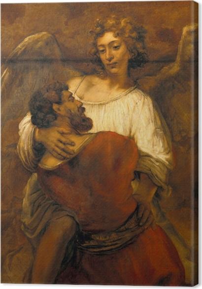 Tableaux premium Rembrandt - Lutte de Jacob avec l'ange - Reproductions