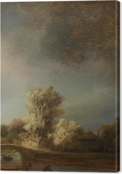 Tableaux premium Rembrandt - Paysage avec un pont de pierre - Reproductions
