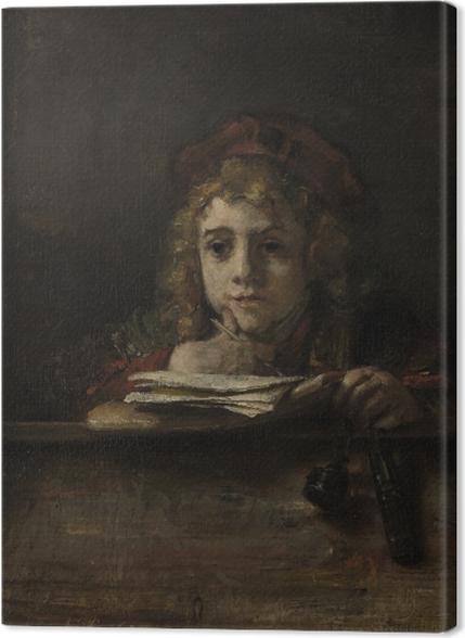Tableaux premium Rembrandt - Titus à son bureau - Reproductions