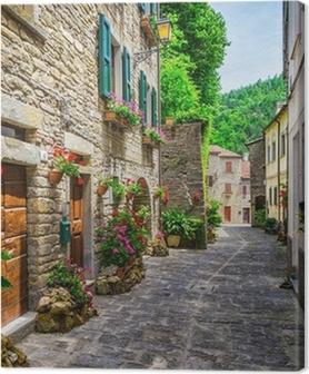 Tableaux premium Rue italienne dans une petite ville de province de Toscane