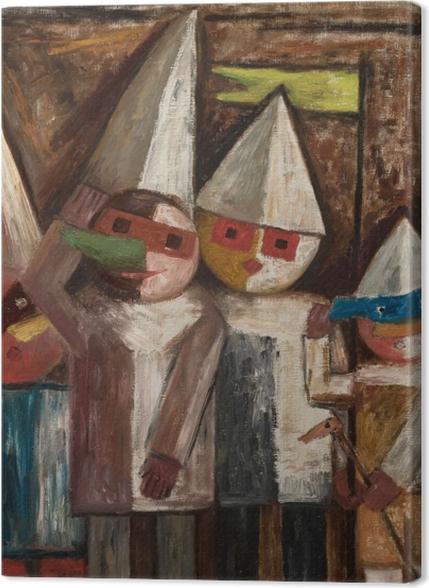 Tableaux premium Tadeusz Makowski - Carnaval des enfants avec un drapeau - Reproductions