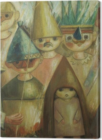 Tableaux premium Tadeusz Makowski - Masquarade -