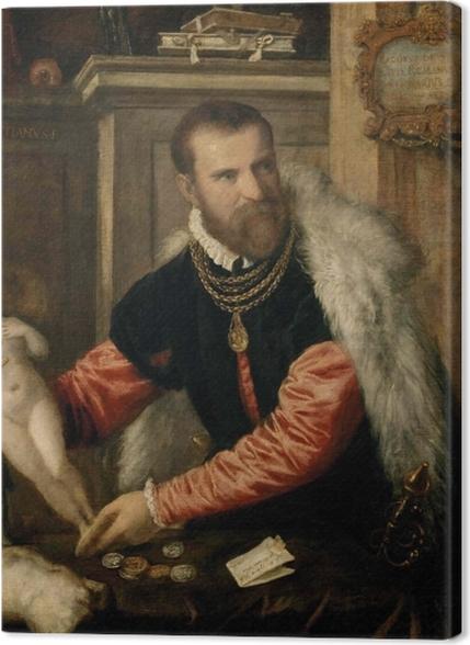 Tableaux premium Titien - Portrait de Jacopo Strada - Reproductions